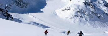 Esquiando en La Parva.