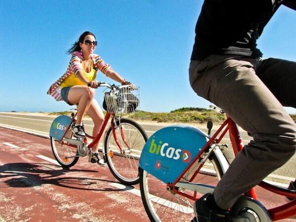 Servicio gratuito de bicicletas en Cascais, Costa de Estoril