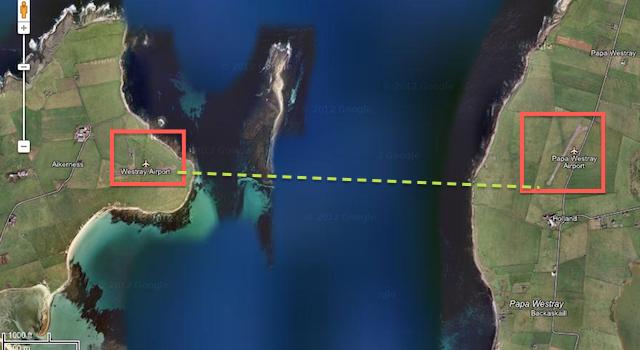 La ruta aérea mas corta del mundo