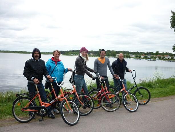 Explorando Karlstad en bici