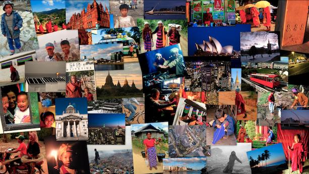 Collage de viajes de Avistu 2007 - 2009
