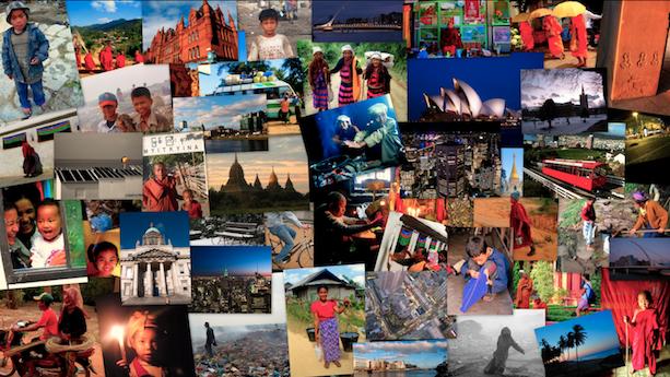 Collage de viajes de Avistu 2007 - 2009