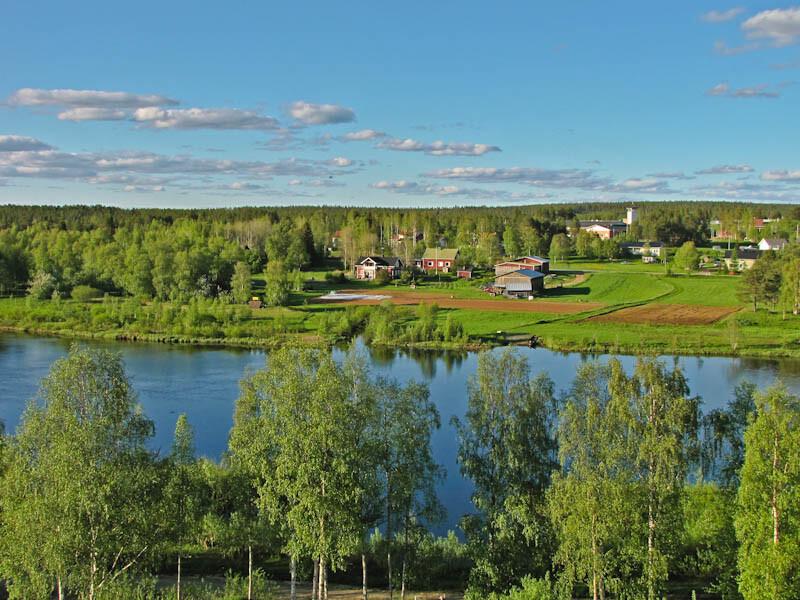 Vistas de Sodankyla, Laponia, Finlandia