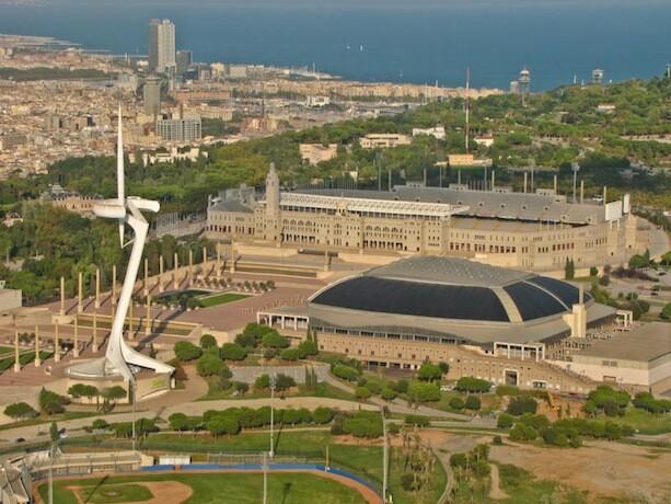 Estadio Torre Palau Sant jordi Montjuic