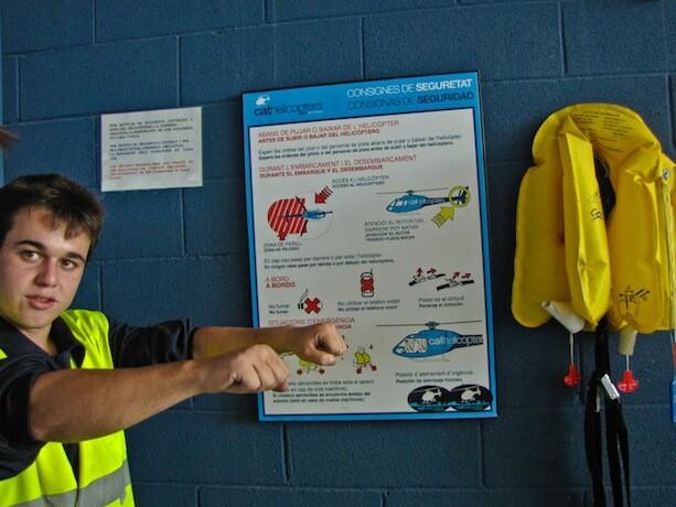 Instrucciones seguridad cathelicopters barcelona