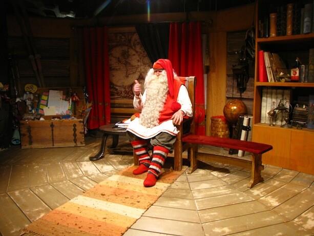Santa Claus o Papa Noel en Laponia