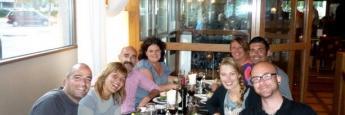 Nuestra cena de despedida en el Scandic Winn