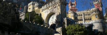 El colorido Palacio da Pena en Sintra