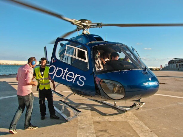 Subiendo helicoptero cathelicopters barcelona