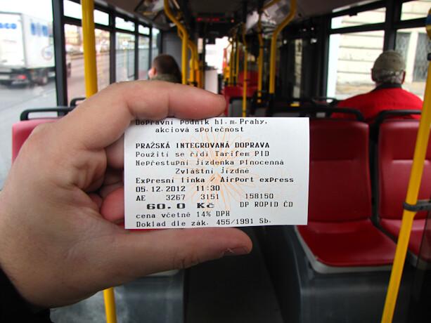 Airport Express autobús aeropuerto Praga