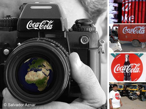 Fotografiando la imagen de Coca-Cola por el Mundo