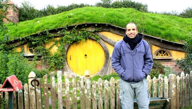 Uno de los agujeros hobbit de la Comarca, en Matamata, Nueva Zelanda
