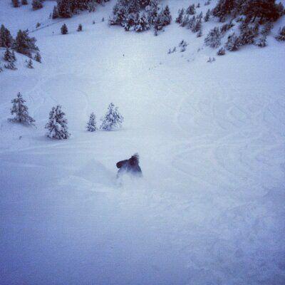 Gozando de la nieve