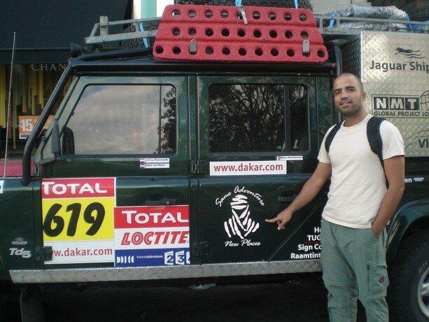 Uno de los 4x4 que corrió el Dakar 2009