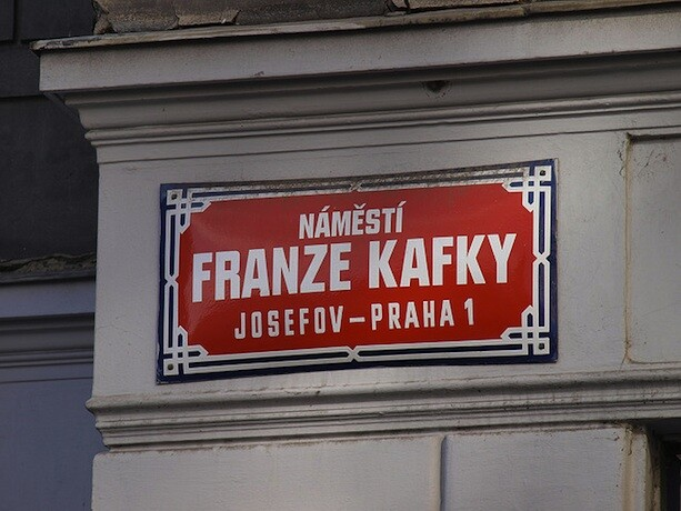 Calle Franz Kafka en Praga