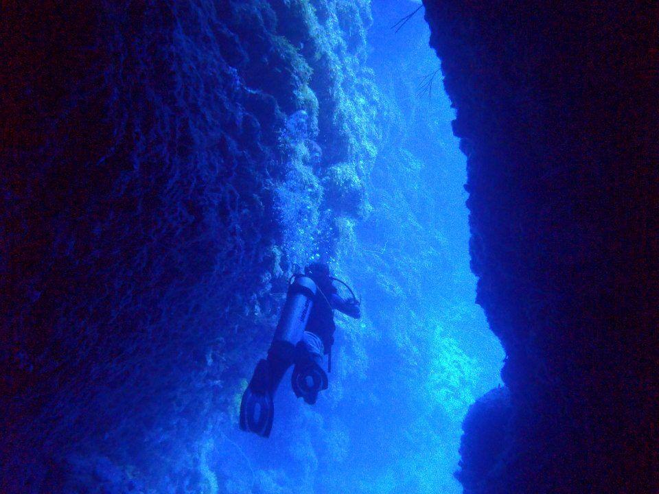 Buceando en el Blue Wall