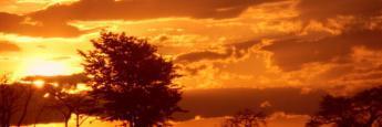 Espectaculares atardeceres africanos en el Parque de Liwonde, Malawi