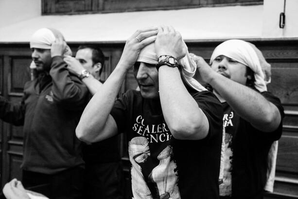Costaleros de la Hermandad de Estudiantes de Oviedo