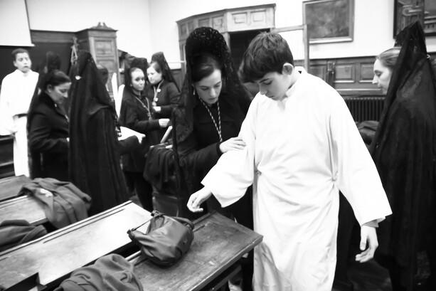 Preparaciones en la Hermandad de Estudiantes Oviedo
