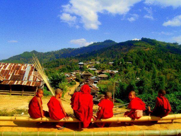 Niños Monjes en Birmania