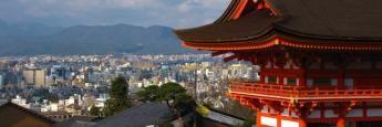 Vistas parciales de Kioto