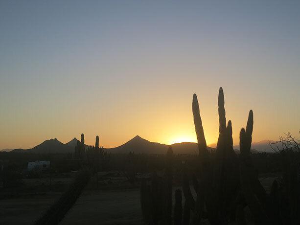 Atardecer en la costa este de Baja California Sur