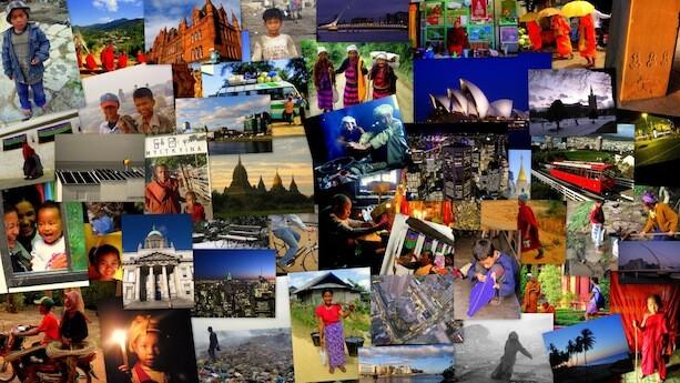 collage fotos de viaje
