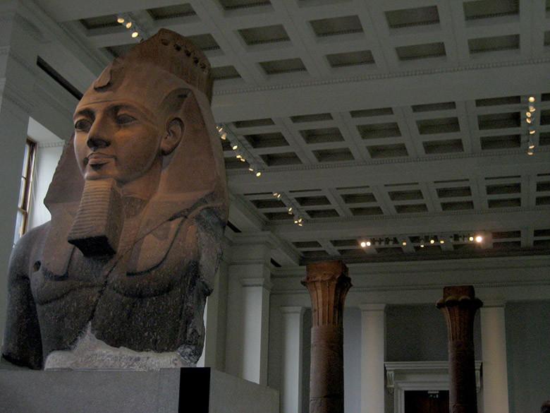 Zona egipcia en el Museo Británico de Londres