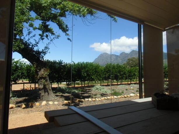 Las vistas desde la terraza acristalada de una de las suites