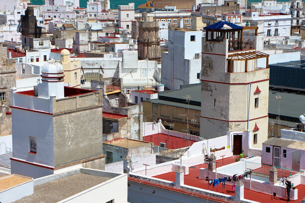Torres mirador en Cádiz