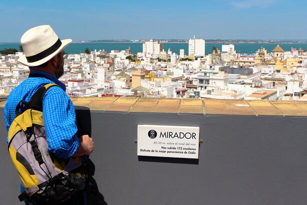 Mirador de la Torre Távira en Cádiz