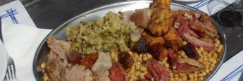 El sabrosísimo cocido liebanés que comimos en Fuente Dé