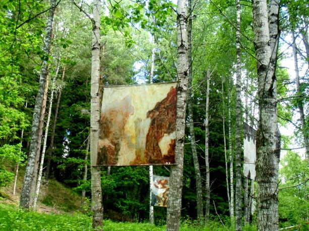 Lienzos que decoran los bosques lindantes a Gunillaberg