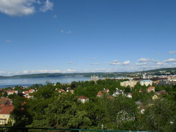 Las vistas desde el mirador del parque de la ciudad