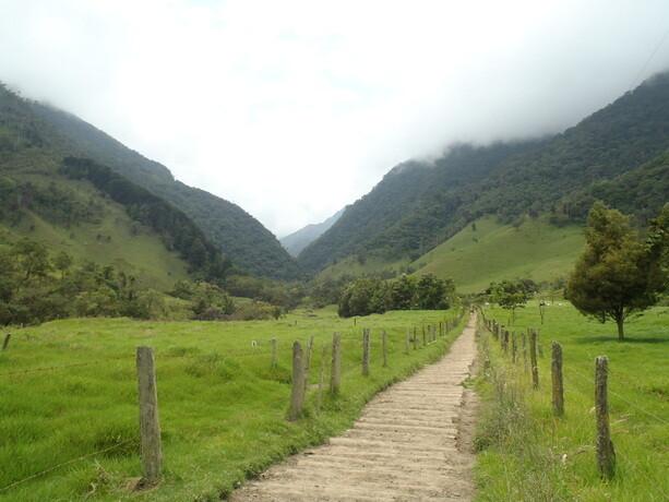 La entrada al Valle del Cócora