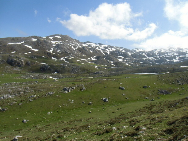 Descendiendo con Geles el paisaje era espectacular