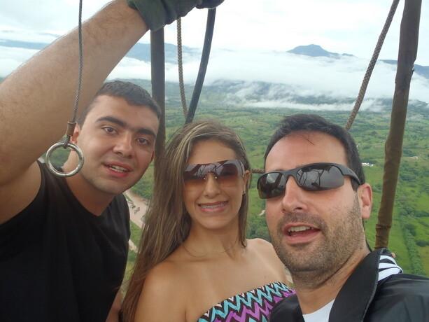 Cristina, Esteban y yo...los 3 expedicionarios!