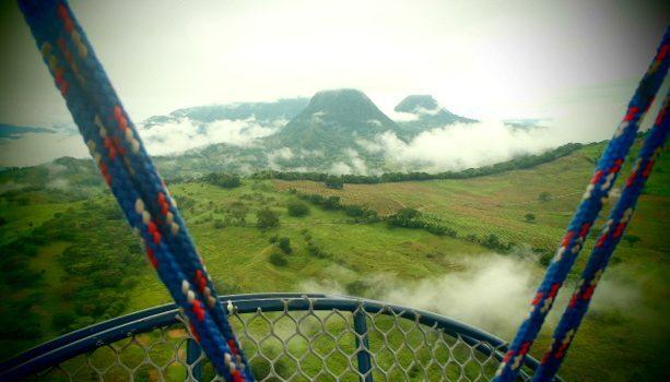Las montañas de Antioquía es una vista inolvidable desde el globo