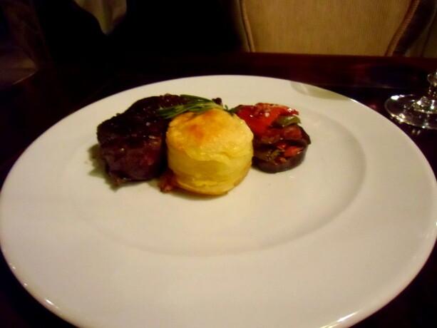 El solomillo fue el único plato de carne que probamos