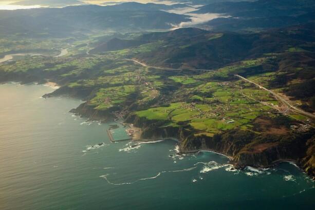Despegando de Asturias panorámica desde el avión