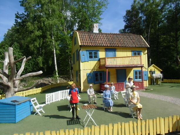 La representación teatral en la casa de Pippi