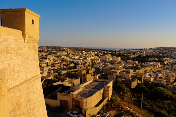 Vistas desde Ciudadela en Victoria Gozo Malta