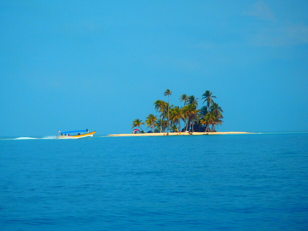 Islote típico del archipiélago de San Blas