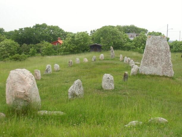 Uno de los cementerios milenarios de la isla de Öland