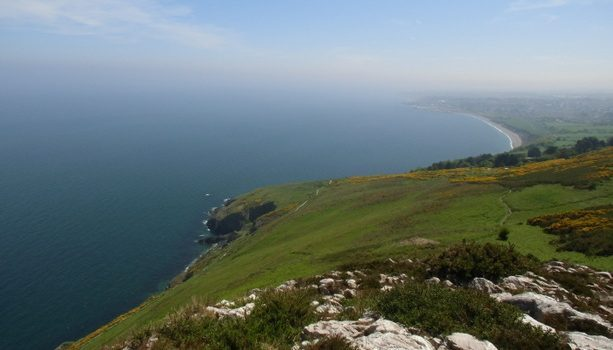 La bella costa del sur de Dublín, entre Bray y Greystones