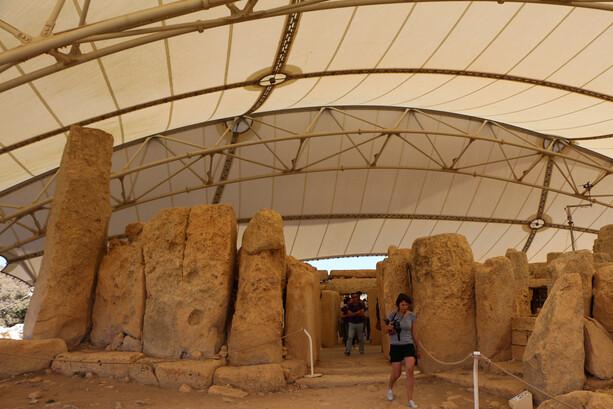 El Templo Megalitico Hagar Qim en Malta