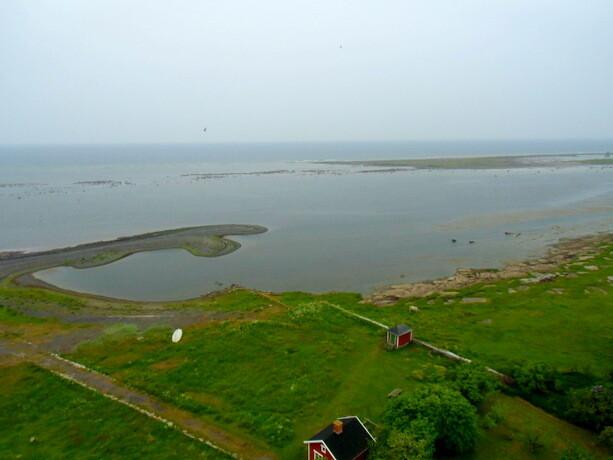 Las vistas del extremo sur de la isla de öland desde el faro Långe Jan