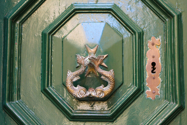 Picaporte puerta de Birgu (Vittoriosa) en Malta