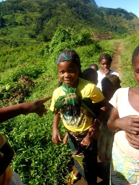 La niña de la aldea de Namuli. Me quedé prendado de ella.