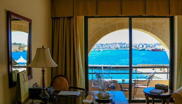 Habitación con vistas del Grand Hotel Excelsior La Valletta Malta